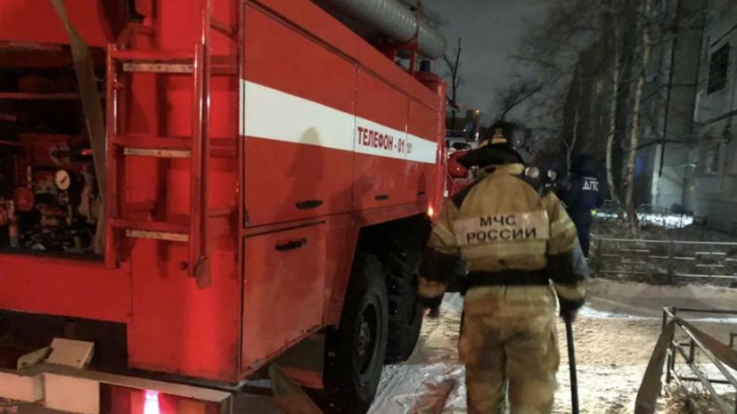 В Уфе произошёл пожар в двухэтажном жилом доме