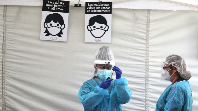 В США за сутки выявили более 188 тысяч случаев коронавируса