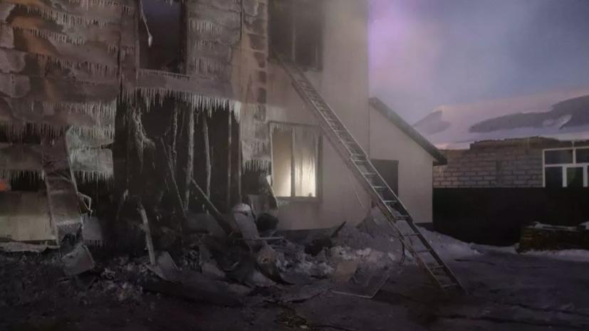 На Сахалине назвали возможную причину пожара в частном доме