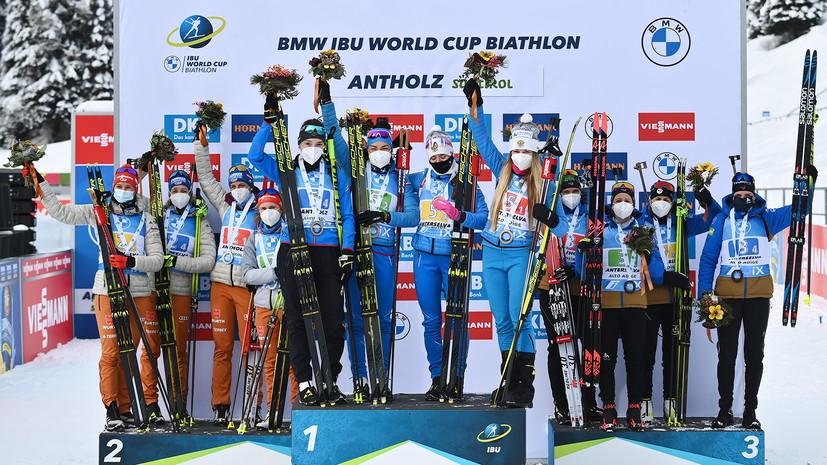 «Случайными могли бы считаться единичные успехи»: Польховский о трёх медалях россиян на этапе КМ по биатлону в Антхольце