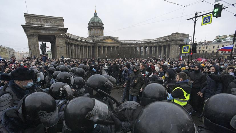 В Петербурге завели дело после блокирования дорог на незаконной акции