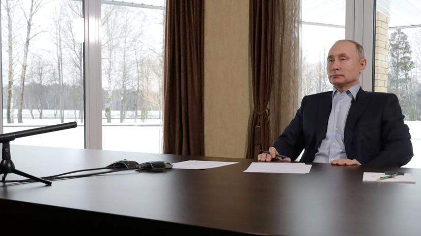 Парламентарии разрешили прерывать обращения Владимира Путина на рекламу