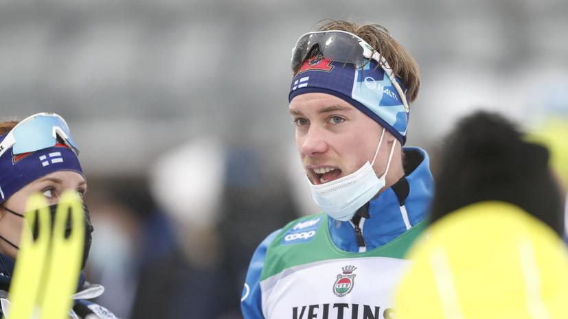 Финский лыжник Мяки объяснил, почему не ударил Большунова в ответ