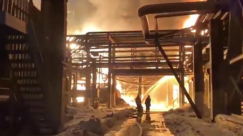 В Уфе ликвидировали пожар на заводе