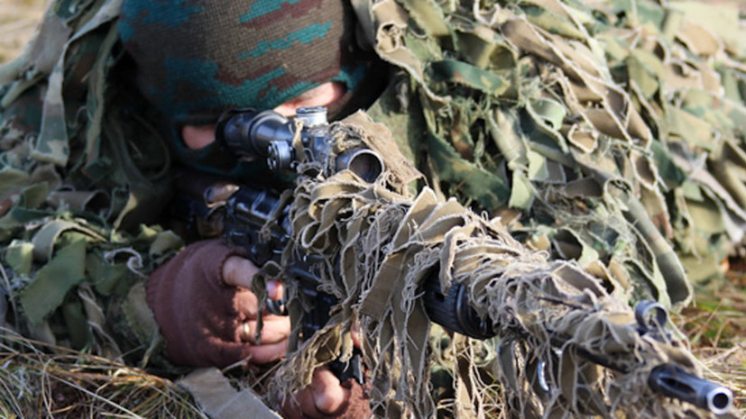 В Ростовской области начались учения военных снайперов