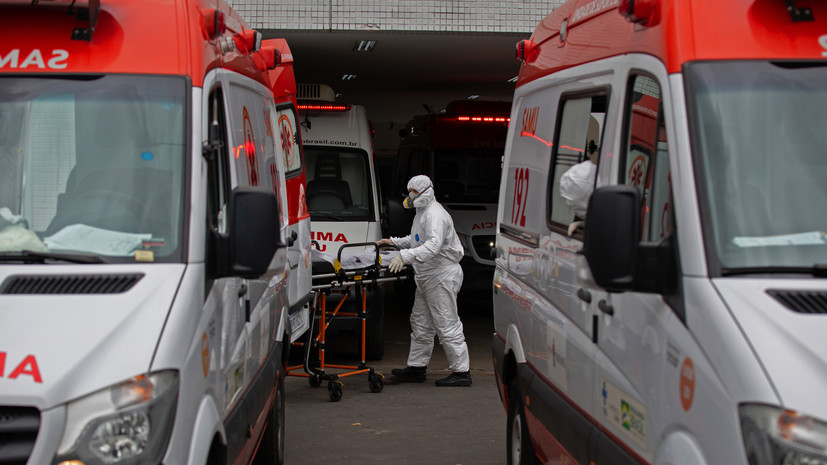За сутки в Бразилии зафиксировано почти 62 тысячи случаев коронавируса