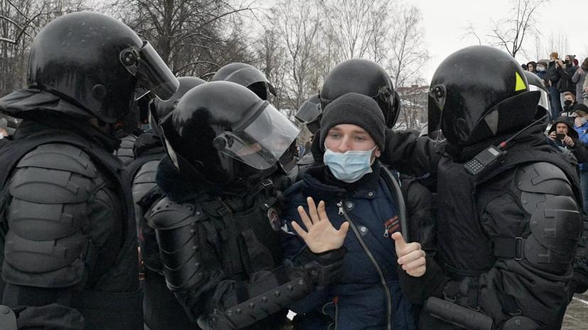 МВД назвало число участников несанкционированных акций в Новосибирске и Красноярске