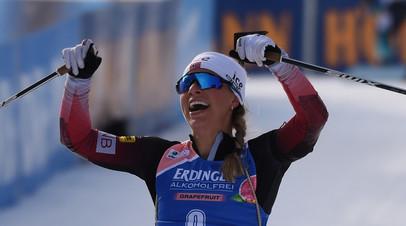 Экхофф выиграла спринт на этапе КМ по биатлону в Оберхофе, Кайшева  в топ-20