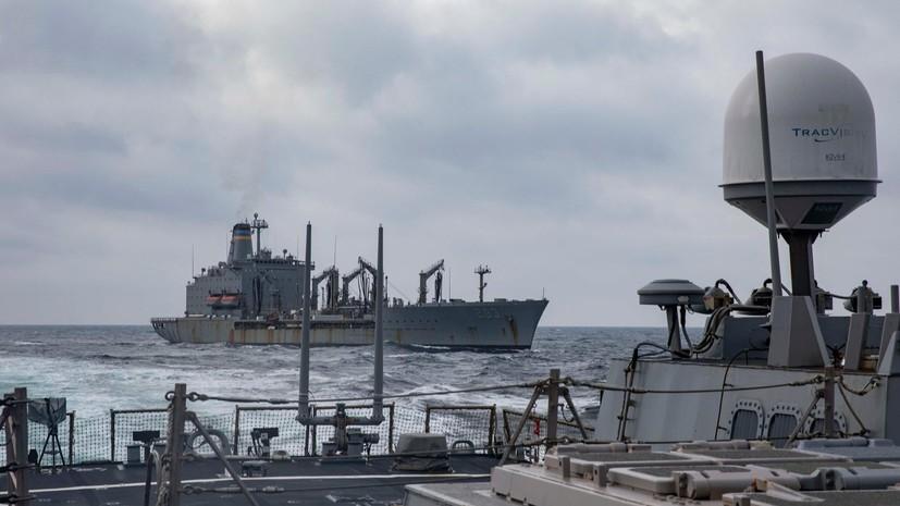 ВМС Украины и США провели совместную тренировку в Чёрном море