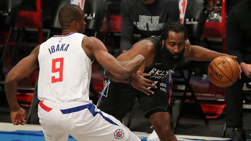 39 очков Ирвинга и трипл-дабл Хардена помогли «Бруклину» победить «Клипперс» в НБА