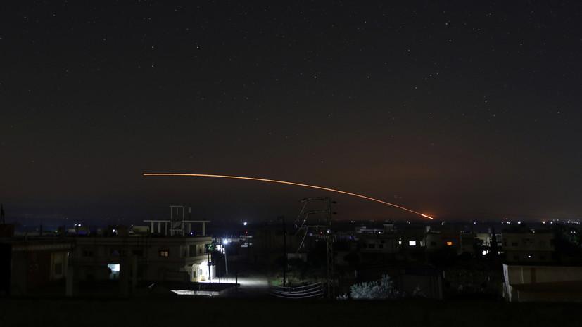 SANA: средства ПВО Сирии отразили ракетную атаку Израиля