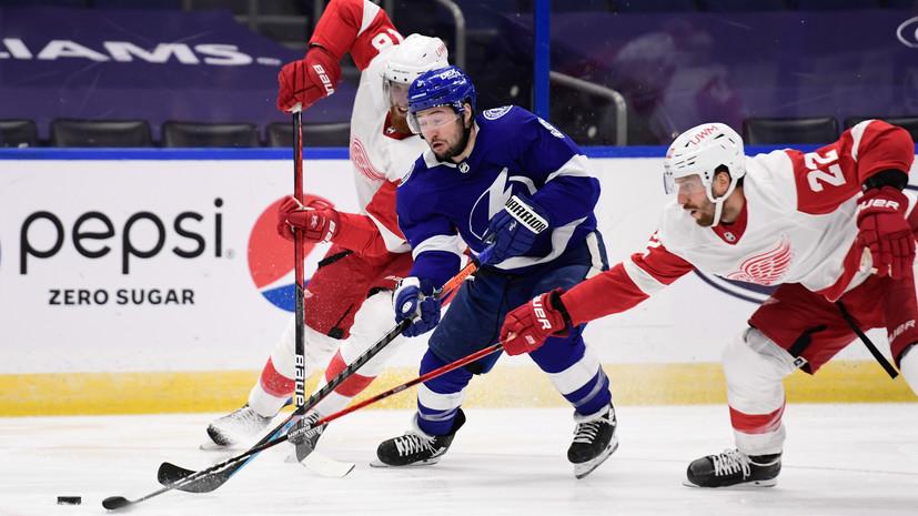 Передача Сергачёва помогла «Тампе» победить «Детройт» в НХЛ