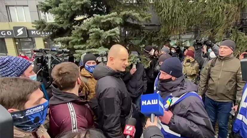 В Киеве националисты попытались штурмовать здание телеканала «НАШ»