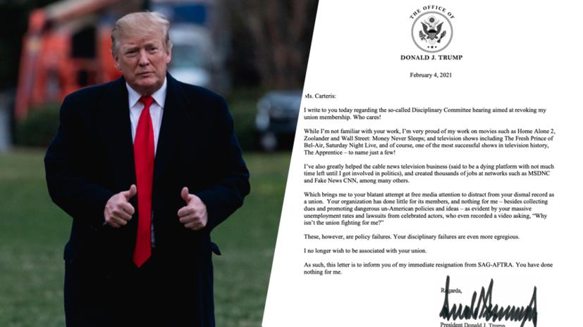 «Я более не хочу хоть как-то быть связанным с вашим профсоюзом»: Дональд Трамп покинул Гильдию киноактёров США