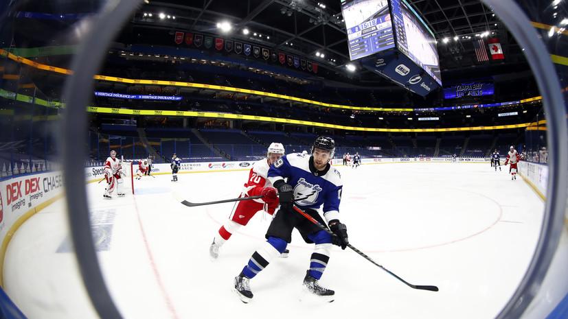 «Детройт» уступил «Тампе» в НХЛ, несмотря на гол Наместникова