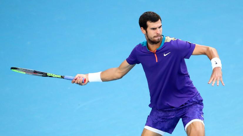 Хачанов проиграл Синнеру в полуфинале теннисного турнира Great Ocean Road Open