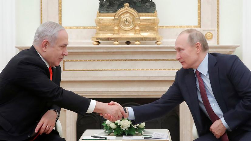 В Кремле рассказали о переговорах Путина и Нетаньяху