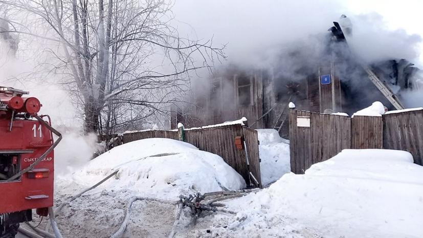 Жертвами пожара в частном доме в Коми стали пять человек