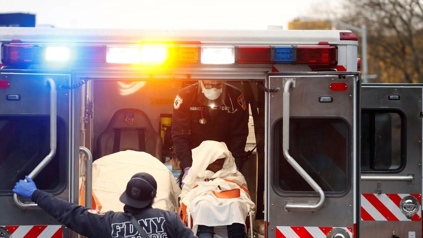 В США за сутки выявили менее 100 тысяч случаев коронавируса