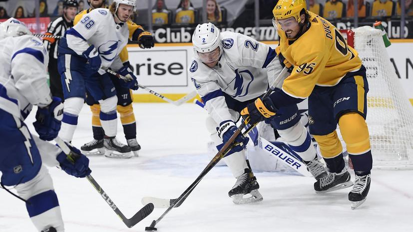 Три передачи Сергачёва помогли «Тампе» разгромить «Нэшвилл» в НХЛ