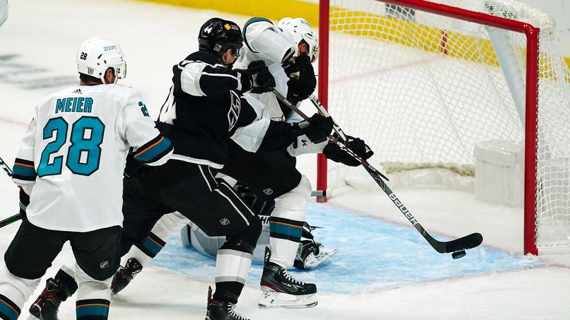 «Сан-Хосе» по буллитам победил «Лос-Анджелес», Кныжов набрал первое очко в НХЛ