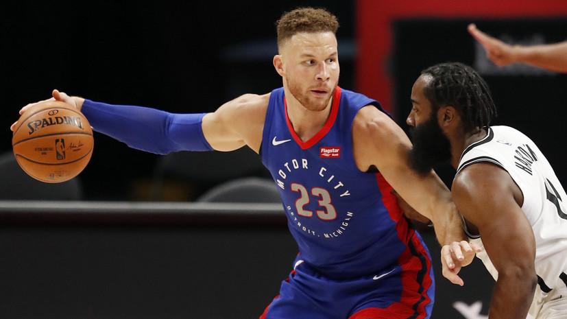 27 очков Ирвинга и дабл-дабл Хардена не спасли «Бруклин» от проигрыша «Детройту» в НБА