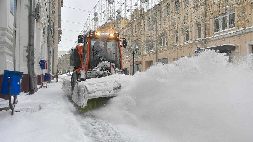 В Москве рассказали о подготовке к ожидающимся снегопадам