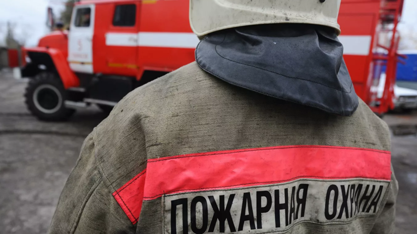 В Тульской области произошёл пожар в одноэтажном здании