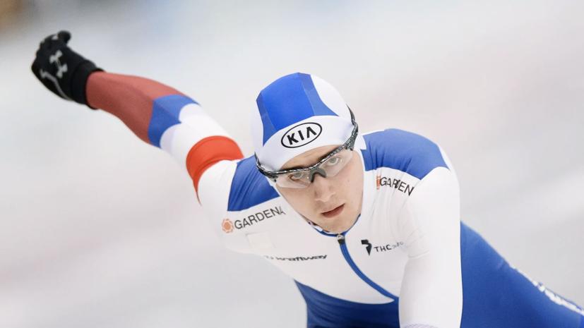 Конькобежец Трофимов завоевал бронзу в забеге на 5000 м на ЧМ в Херенвене