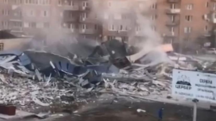 Во Владикавказе произошёл мощный взрыв в супермаркете