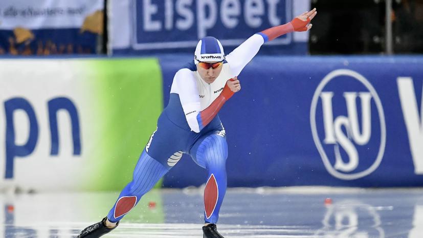 Опубликовано видео танца Голиковой после победы на ЧМ по конькобежному спорту