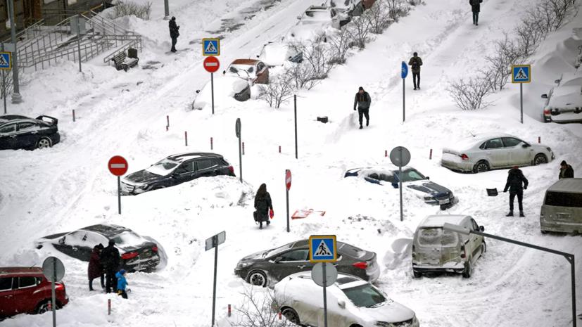 В Москве рассказали об отбуксированных автомобилях из-за непогоды