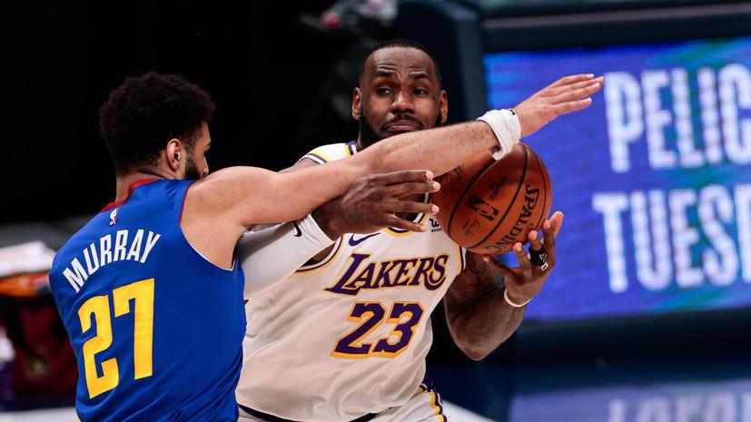 «Дэнвер» разгромил «Лейкерс» в матче НБА