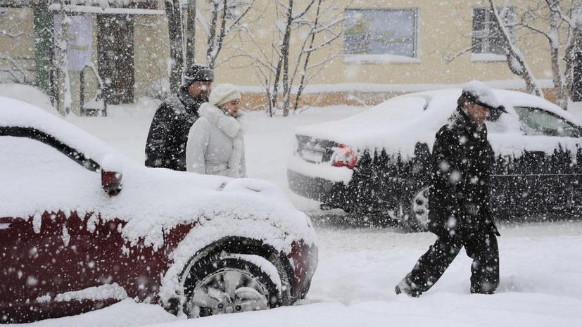 В Адыгее введён режим повышенной готовности из-за снегопада