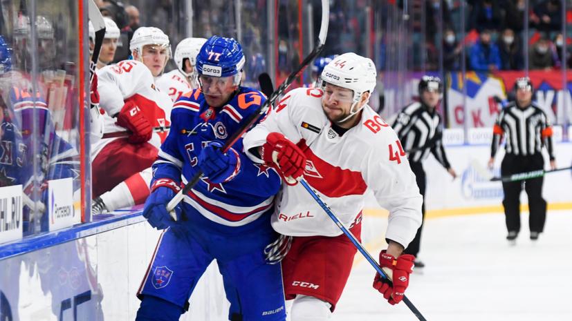 СКА обыграл «Спартак» в матче КХЛ