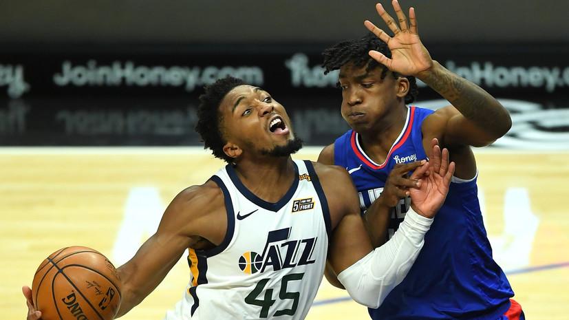 «Юта» одержала девятую победу подряд в НБА, обыграв «Клипперс»