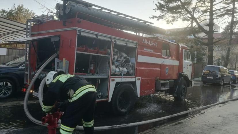 Пожар в гостинице в Сочи потушен