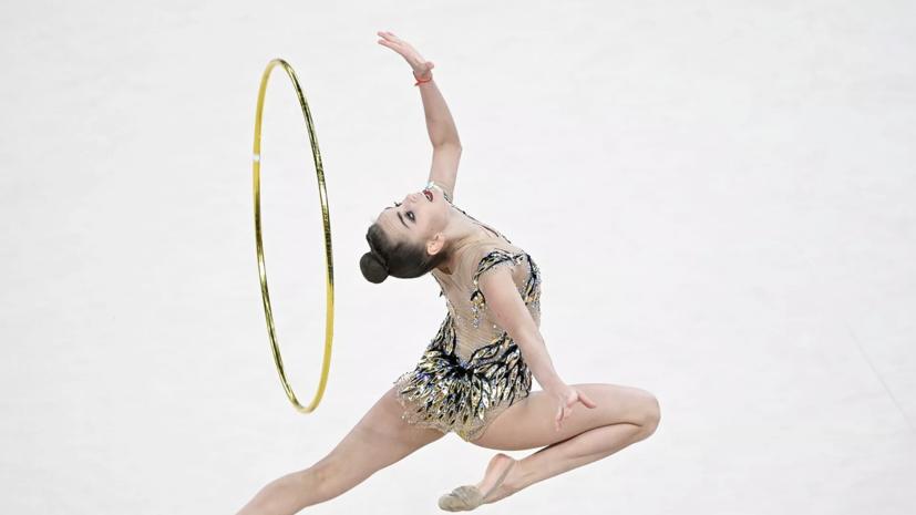 Гимнастка Дина Аверина победила в многоборье на этапе Гран-при в Москве