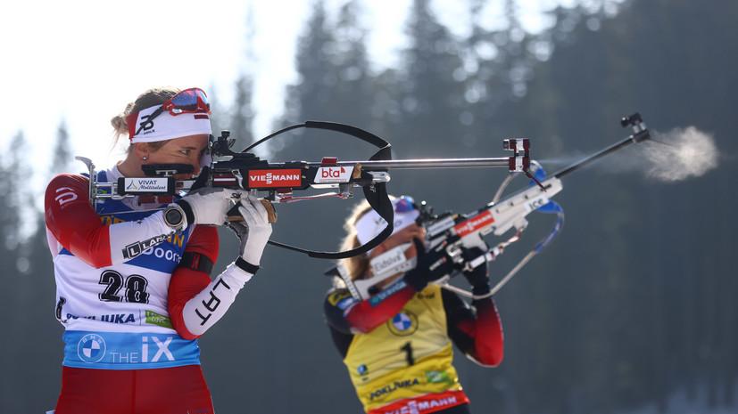 Биатлонистка Бендика выиграла квалификацию на ЧМ по лыжным гонкам