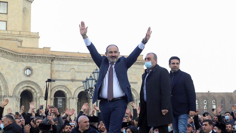 Пашинян призвал главу Генштаба Армении добровольно уйти в отставку