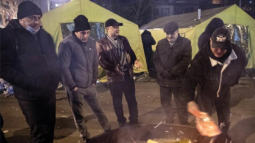 В Ереване оппозиция собирается в палаточном лагере