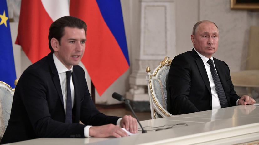 Путин и Курц обсудили возможные поставки вакцины «Спутник V» в Австрию