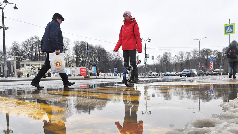 В Москве зафиксирована самая тёплая ночь с начала зимы