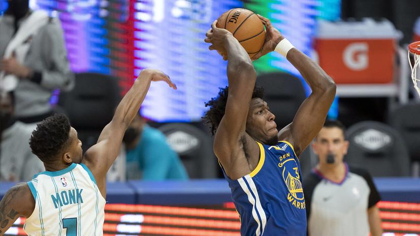 Трипл-дабл Грина и 29 очков Карри принесли «Голден Стэйт»победу над «Шарлотт» в матче НБА
