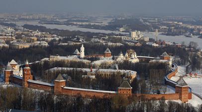 Панорамный вид на Новгородский кремль