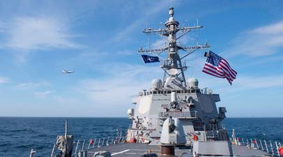 Эсминец США на учениях в Чёрном море