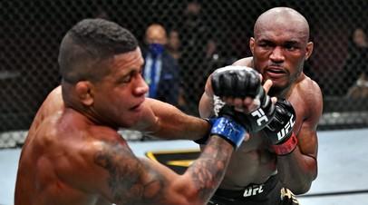 Бойцы UFC Гилберт Бёрнс (слева) и Камару Усман (справа)