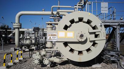Береговые объекты газопровода «Северный поток — 2» в городе Лубмин в Германии