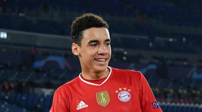 Футболист «Баварии» Мусиала стал самым молодым англичанином, забивавшим в ЛЧ