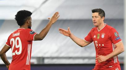 «Бавария» на выезде разгромила «Лацио» в первом матче плей-офф ЛЧ
